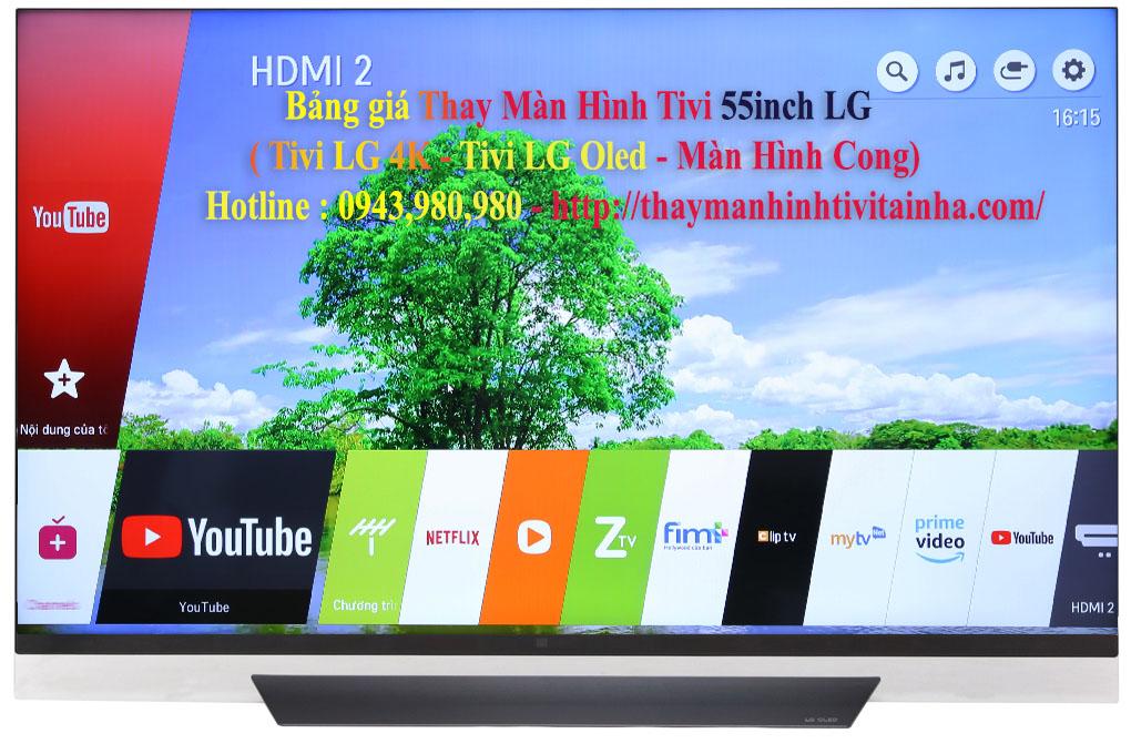giá thay màn hình tivi lg 55inch tại nhà